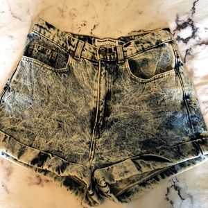 American Apparel high rise shorts